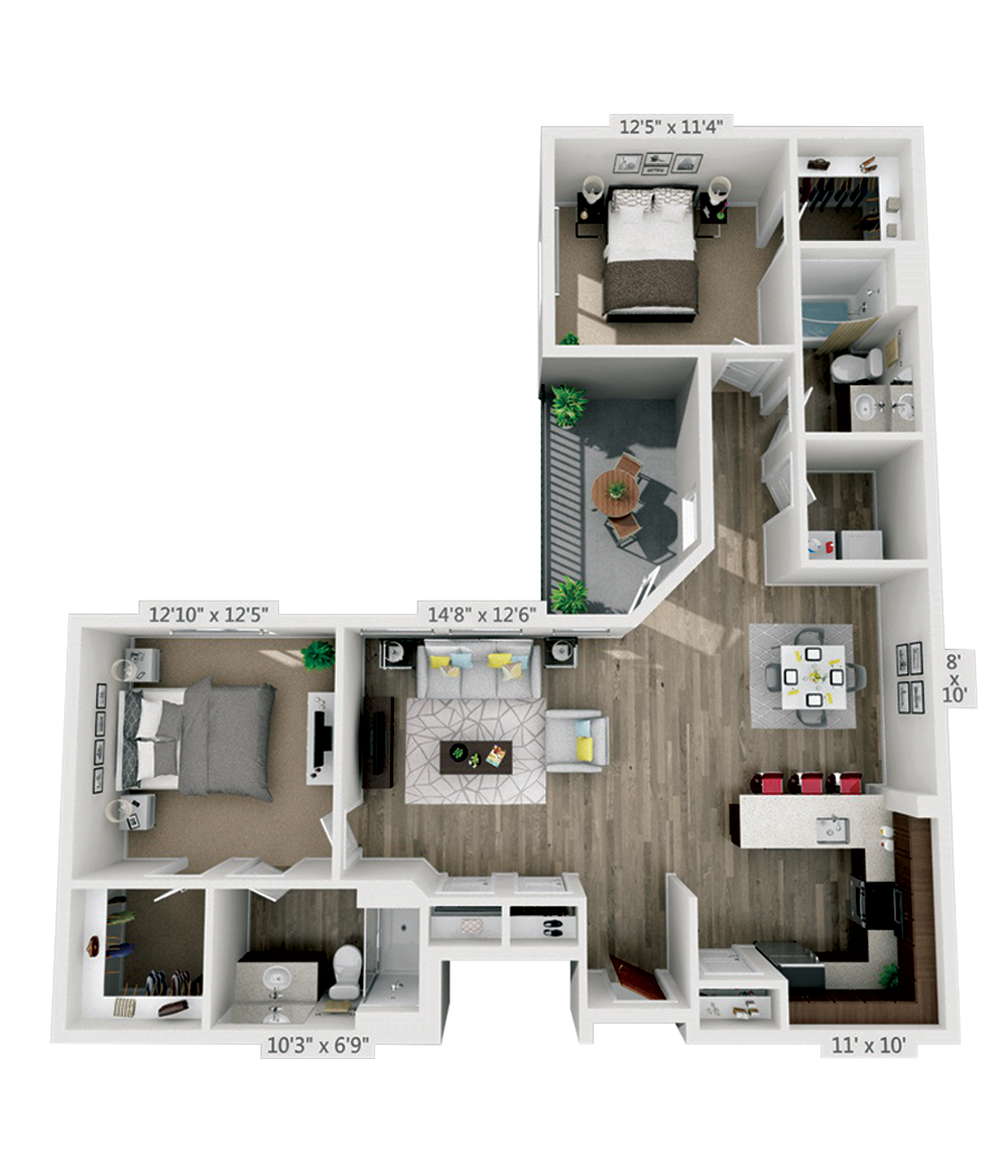 West River House Floor Plans